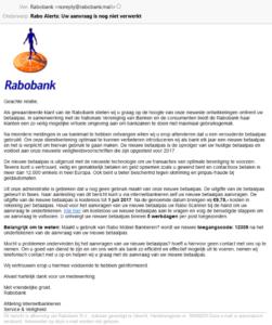 Scam Mail voor Virusscanners